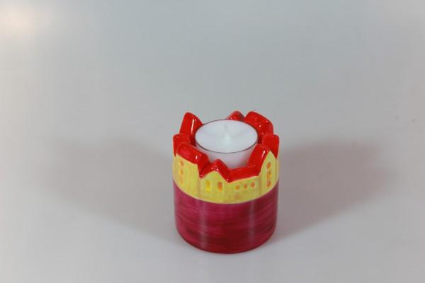 """Kerzenhalter mit Motiv """"Häuser"""", klein"""
