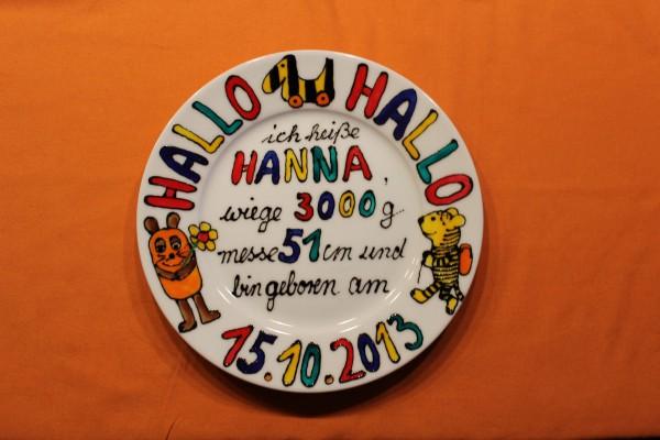 "Geburtsteller ""Hanna"""