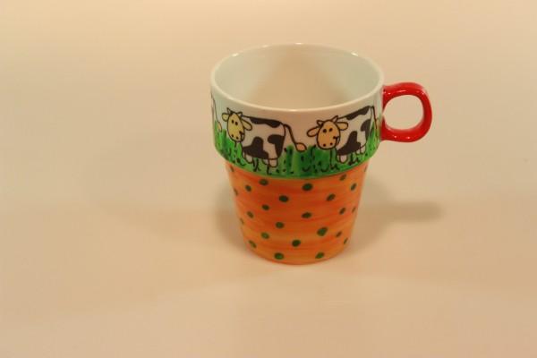 Becheer Kühe bemaltes Porzellan