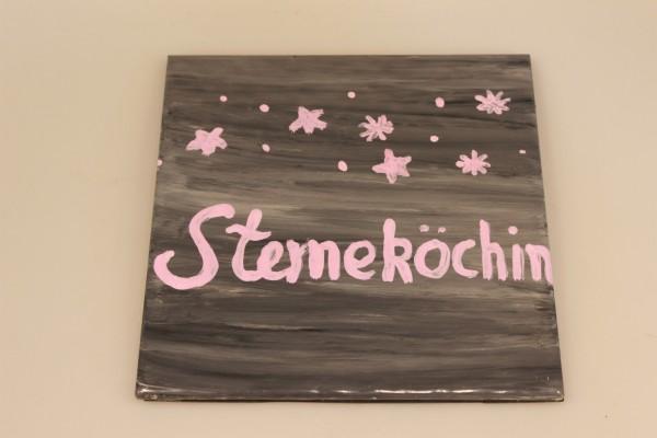 Untersetzer aus bemalter Keramik Motiv Sterneköchin