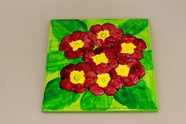 Untersetzer mit Blumendekor Primeln