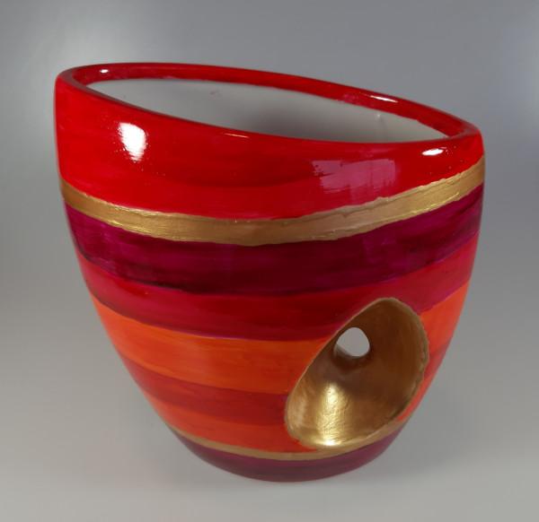 Vase rot-gold (2)