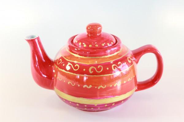 Teekanne - rotgold Design