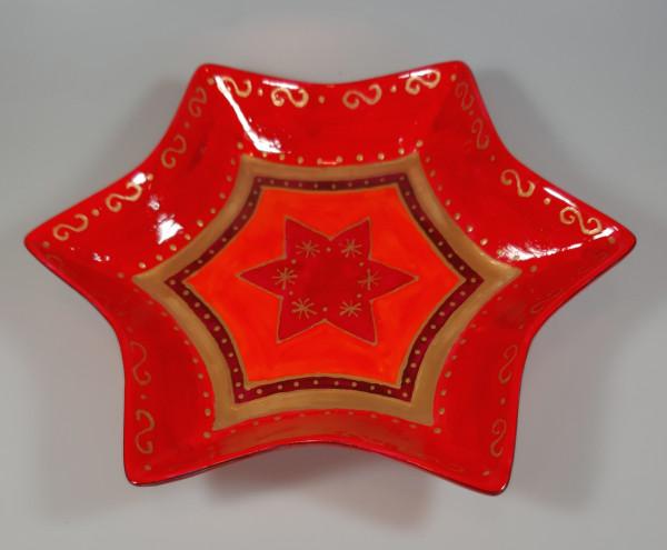 Schale in Sternform, handbemalt