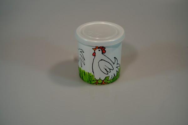 Behälter Motiv Hühner