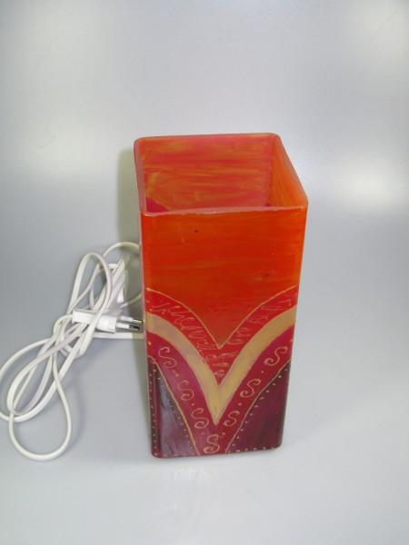 Tischlampe, Dekor rot-gold