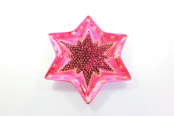 "Bemalte Schale in Sternform, Design ""rotgold"", Höhe 10 mm"
