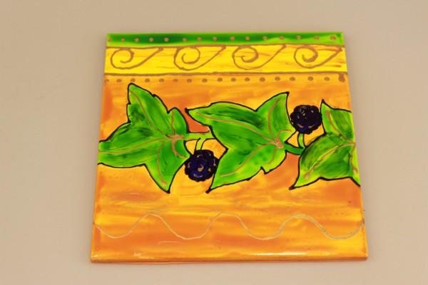 Untersetzer Blumen mit Beeren