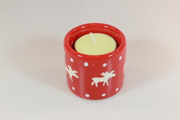 Kerzenhalter für Teelichter mit Elchmotiv