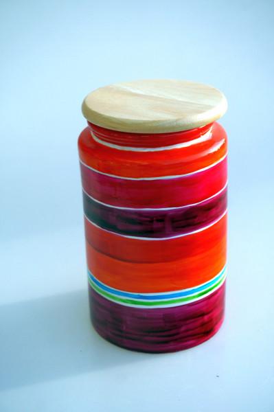 Vorratsbehälter mit Holzdeckel