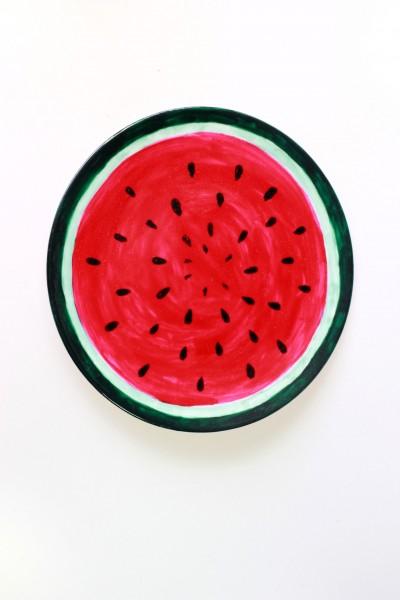 Handbemalter Teller Motiv Melone