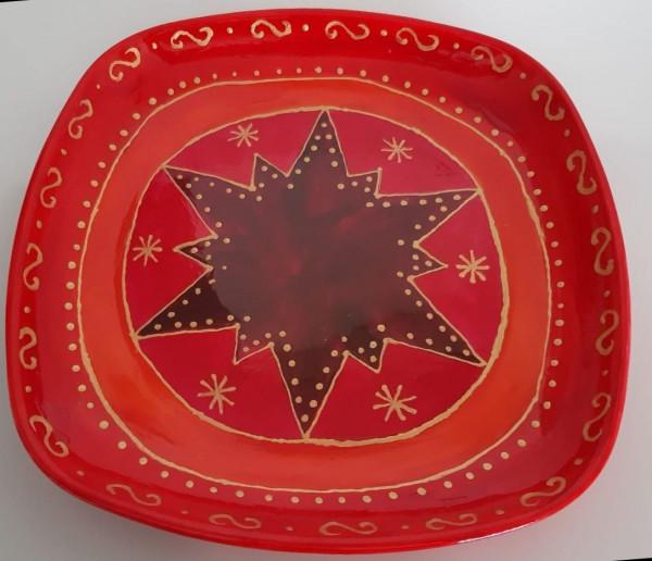 Teller Weihnachten rot-gold (2)