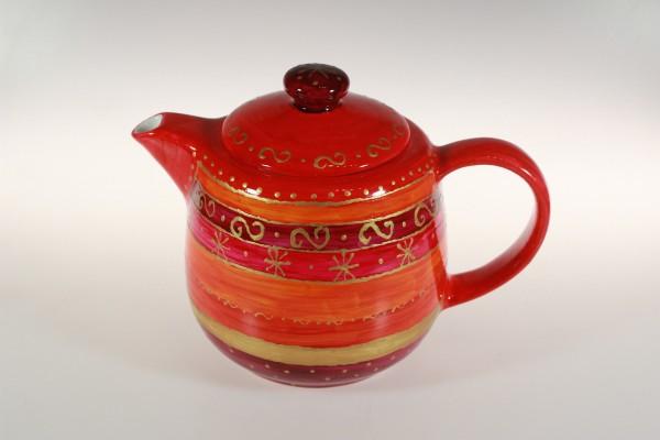 Kaffeekanne mit rot-gold Dekor